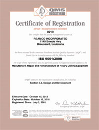 ISO 9001 Certification 2013-2016