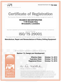 ISO TS 29001 Certification 2013-20156